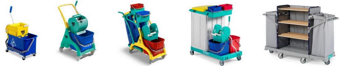 Почистващи колички за хотели, офиси, молове, търговски центрове